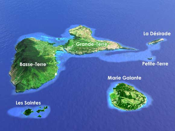 Plan de la Guadeloupe