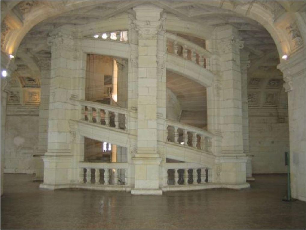 Chateau de Chambord - Escalier a double revolution